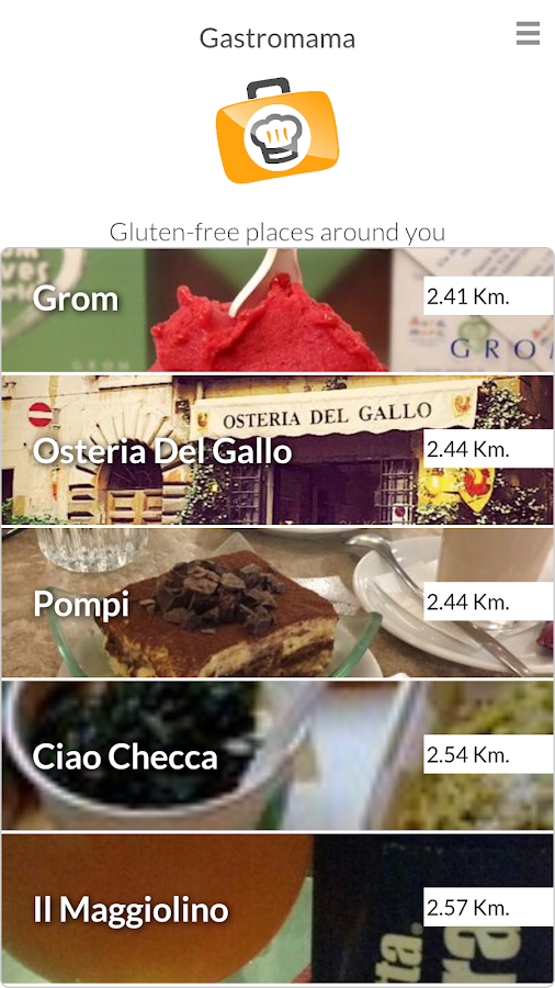 Gluten free Advisor- screenshot