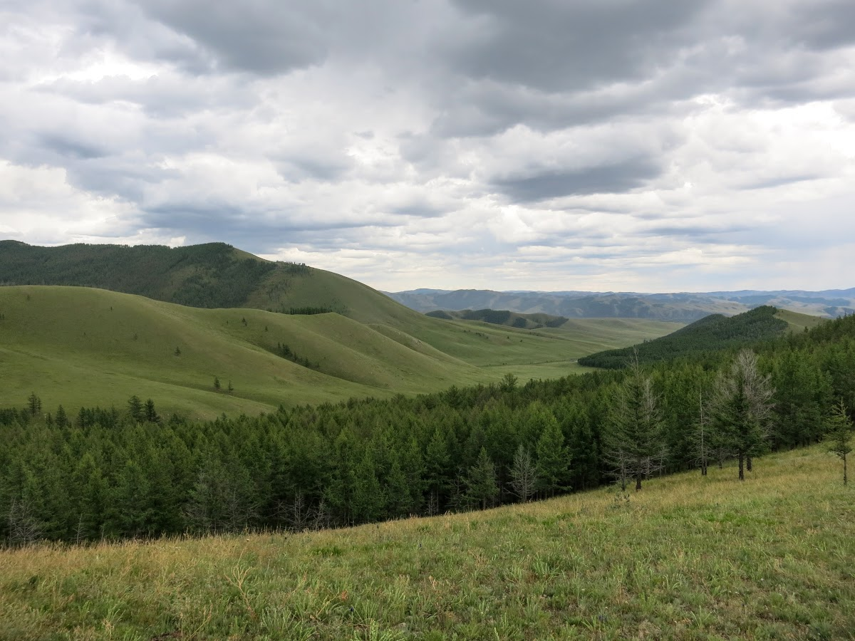 Green valleys and hills