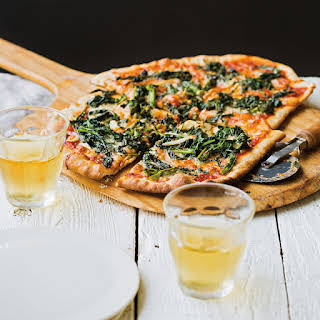 Broccoli Rabe, Garlic and Smoked Mozzarella Pizza.