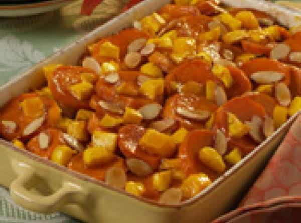 Mango And Almond Yams Recipe