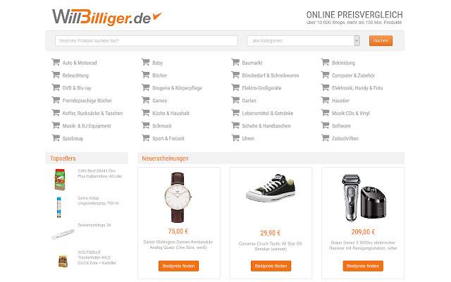 WillBilliger Bestpreis-Suche