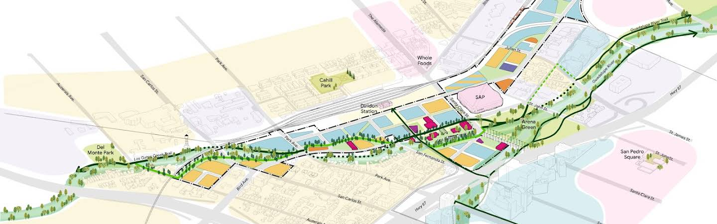 The proposed land use in Google's Downtown West mixed-use plan.