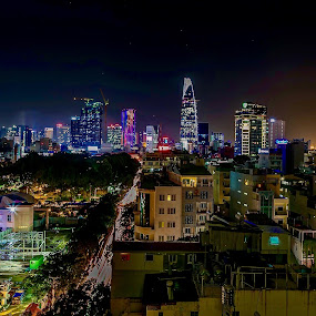 Ho Chi Minh City by night by Rick Pelletier - Novices Only Street & Candid