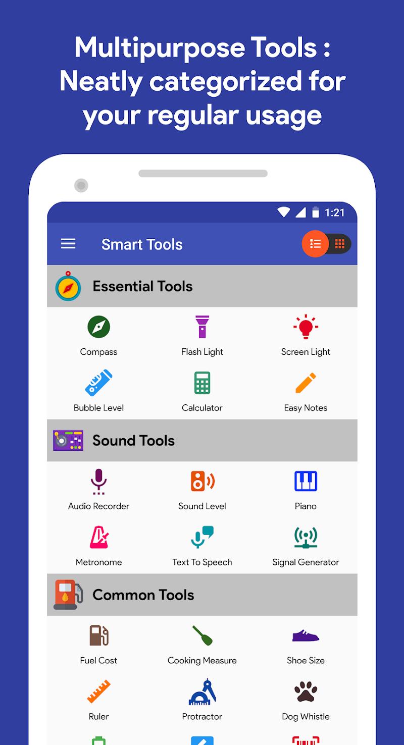 Smart Tools : Compass, Calculator, Ruler, Bar Code v1.1.42 [Premium]
