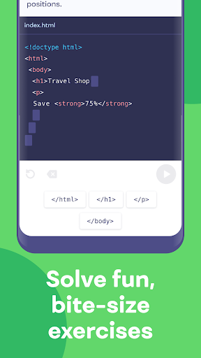 Mimo: Learn coding in JavaScript, Python and HTML Apk 2
