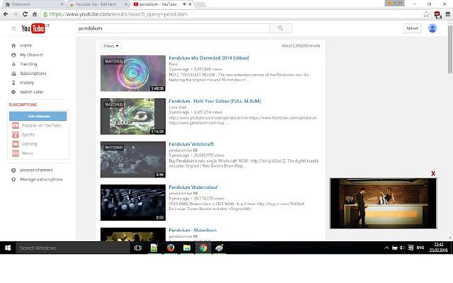 Youtube tile