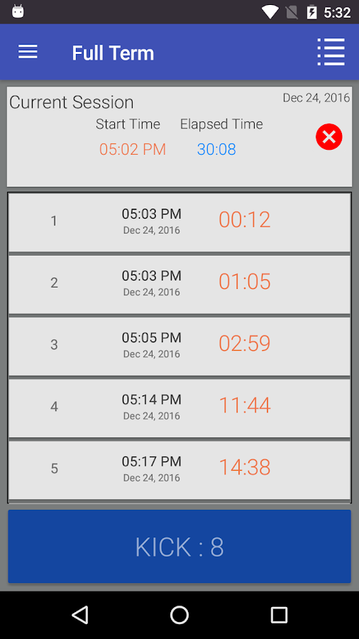 Full Term - Contraction Timer- screenshot