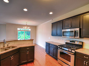 Photo: The kitchen in one of our townhomes at Greyledge Estates