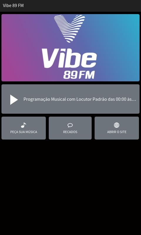 Rádio Vibe 89 FM- screenshot