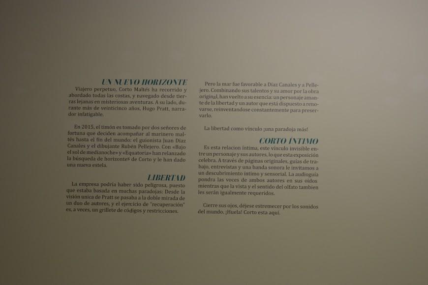 Exposición Corto Maltés. En cualquier lugar excepto en Ítaca en Almería.