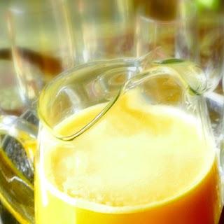 Orange Peach Mimosa Cocktails