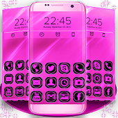 Pink Neon GO Launcher Theme