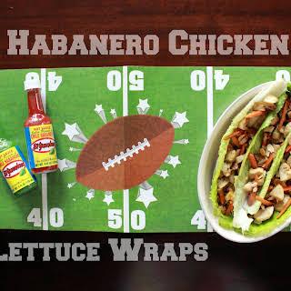 Habanero Chicken Lettuce Wraps.