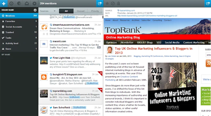 Social Media Tools for Monitoring and Scheduling - Mention