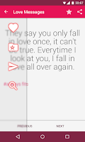Screenshot of Love Messages & Quotes