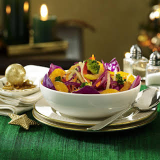 Broccoli Salad with Cranberries, Walnuts and Citrus Vinaigrette.