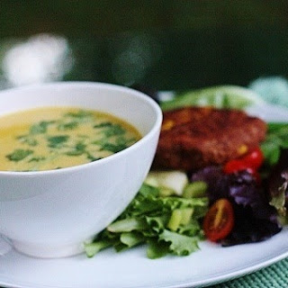 Creamy Summer Corn and Coconut Soup.