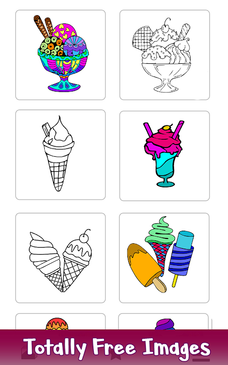 Ice Cream Color By Number Food Coloring Pages Android