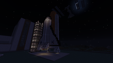 Photo: Space Shuttle and NASA buildings, built by essjaysammy