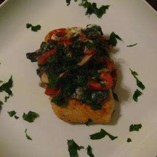 Salmon & Vegetable Cheese Sauce.
