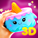 3D Squishy toys kawaii soft stress release games icon