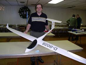 Photo: Scott and his sail plane