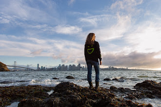 Photo: Smuggie on Treasure Island  I see your Iceland waterfall +SmugMug hoodie shot +Michael Bonocore...    ...and raise you a shot of me, standing at the edge of the bay with the city I call home in the background.