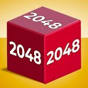 Chain Cube: 2048 3D merge game icon