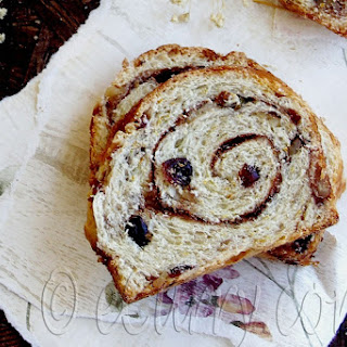 Spiced Cranberry and Nut Swirl Bread