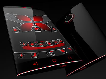 Soft Touch Red theme for Next Launcher 3D - náhled