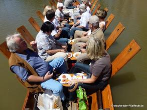 Photo: Die Vorspeisenteller bei einer BBQ Grillfahrt ... Grillen, Essen und Trinken auf dem Stocherkahn ... all inklusive und all you can eat mit Niveau!