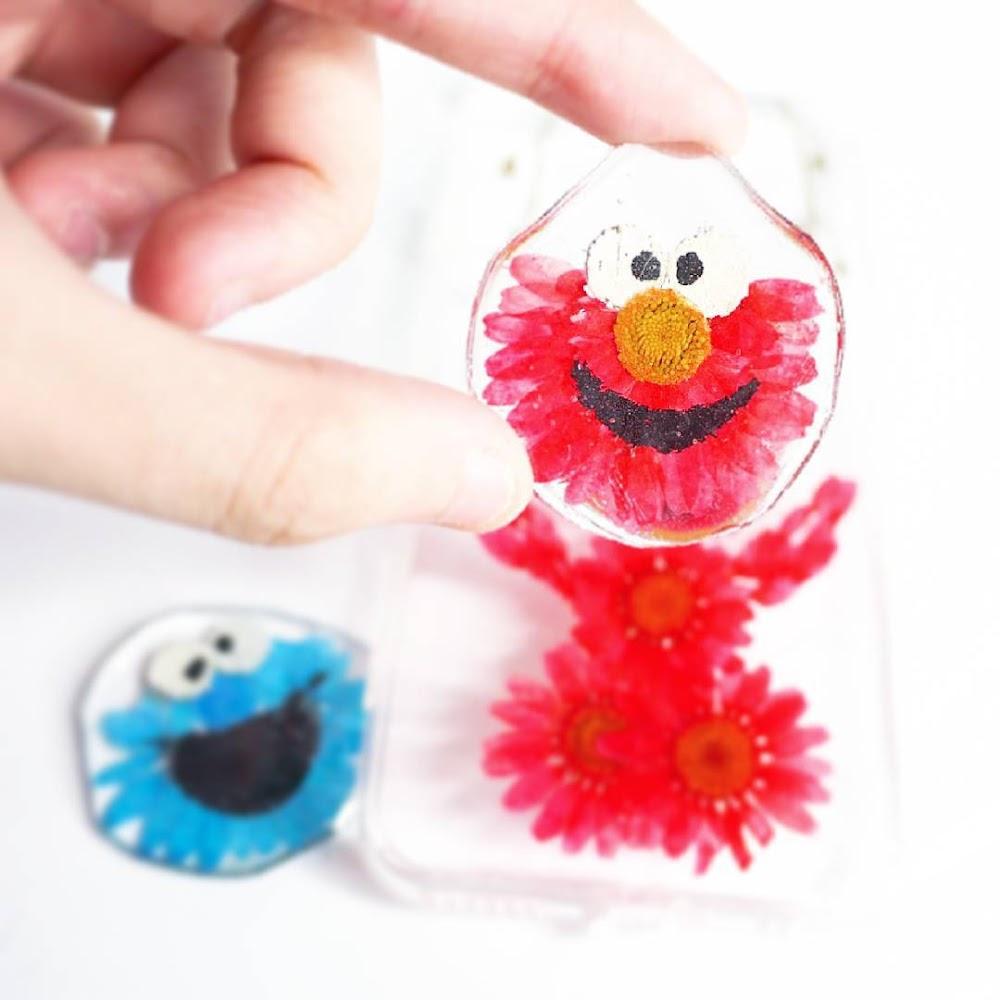 [訂製/custom-made] Elmo Pressed Flower Phone Case