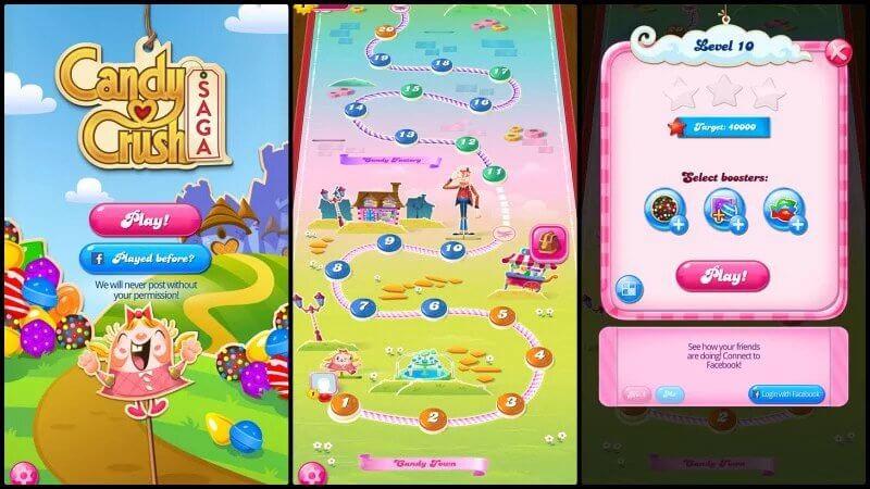معلومات عن تطبيق لعبة Candy Crush Saga