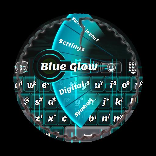 个人化のブルーグロー GO Keyboard LOGO-記事Game