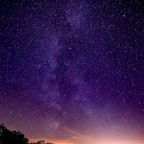 Milky Way bay by Joachim Persson - Landscapes Starscapes ( water, milkyway, sky, stars, lake, night, longexposure )