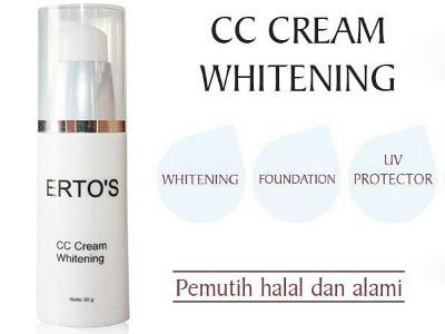 CC Cream Whitening cream siang anti uv ertos alas bedak melembabkan melembutkan memutihkan wajah