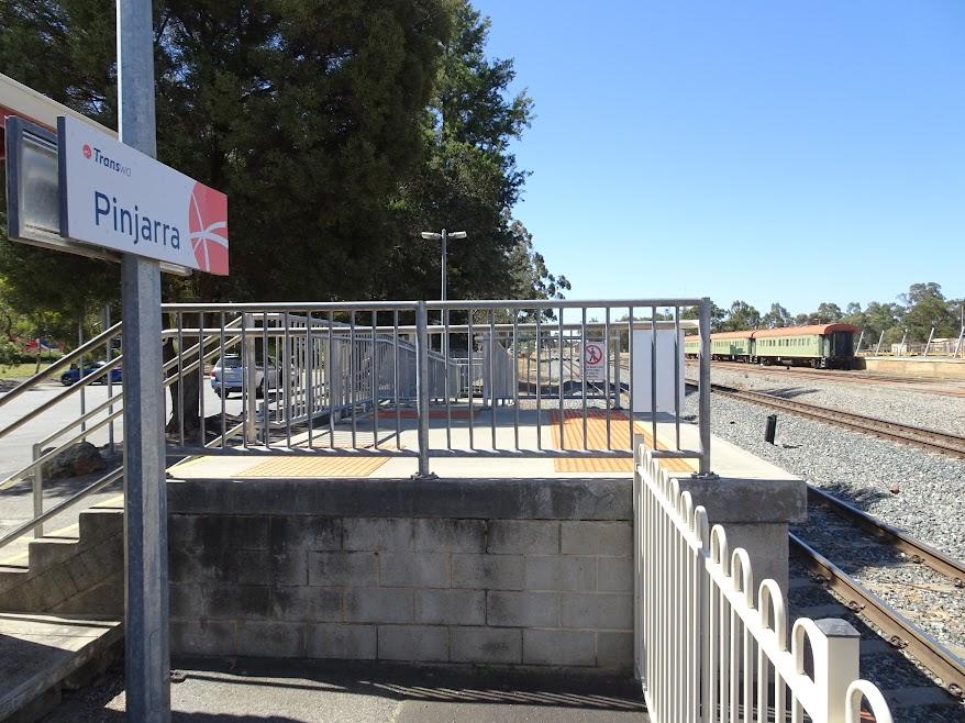 Pinjarra, where I board my train back to Perth