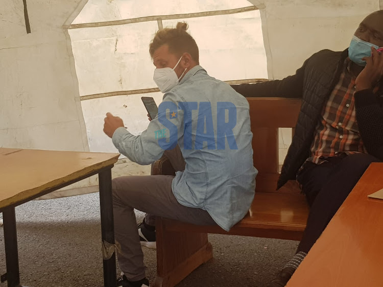 Piotr Lukasz Litwiniuk at the Milimani law courts on March 31, 2021.