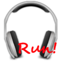 Run! Headphones player icon