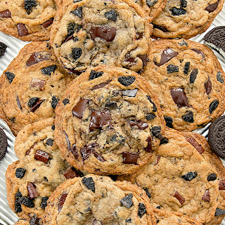 Chewy Cookies and Cream Chocolate Chip Cookies.