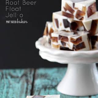 Root Beer Float Jello.