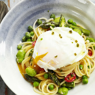 Asparagus, Fava Bean and Pea Spaghetti