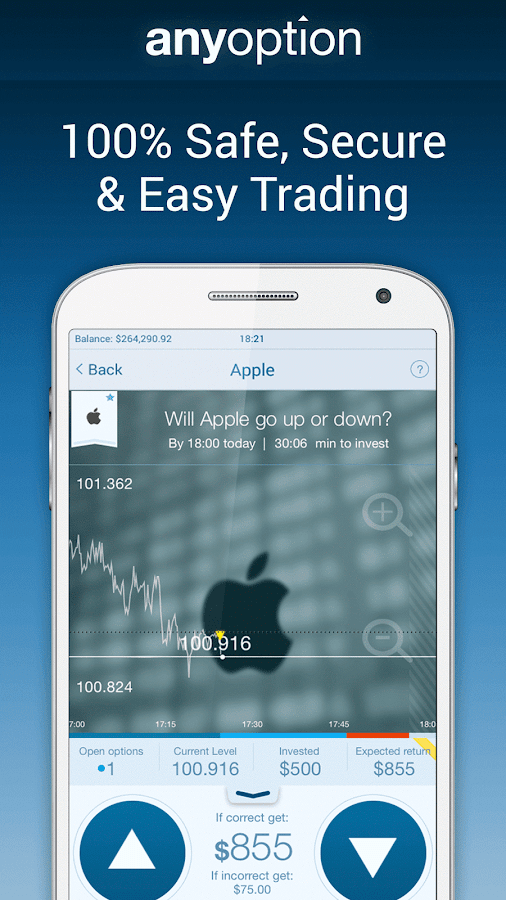Binary Options - anyoption- screenshot