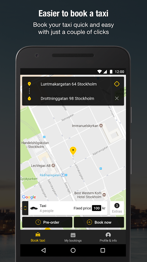 Taxi Sthlm- screenshot