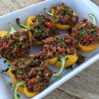Clean Eating Sloppy Joe Stuffed Peppers