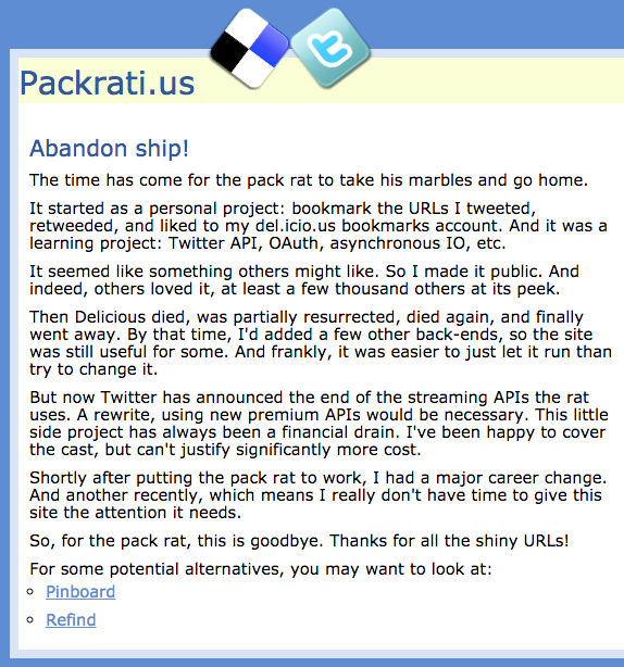 Packrati.us is no more!