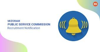 Mizoram Public Service Commission Recruitment Notification