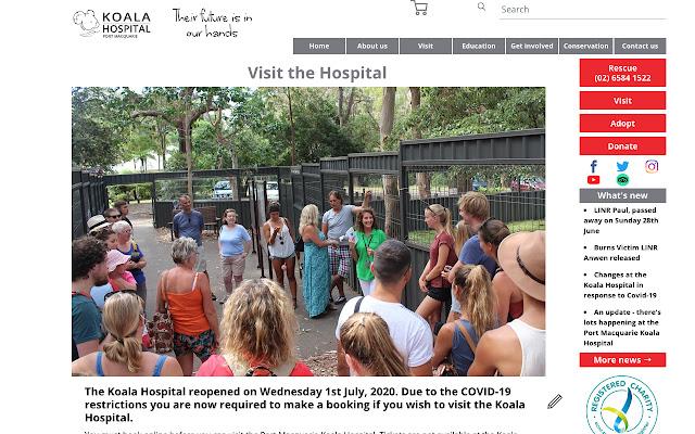 Koala Hospital Website CMS
