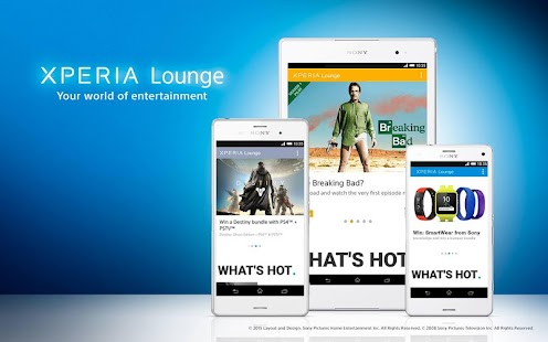 Xperia Lounge (entertainment) Screenshot 1