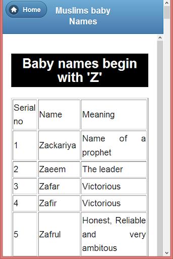 Muslim Child  Names (A-Z) 1.0 screenshots 7